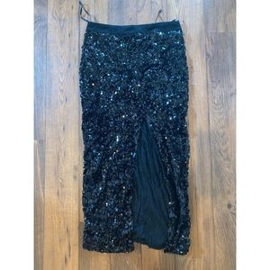 Blaque Label Skirts - Sequined skirt with high slit